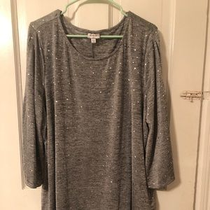 Sparkling Silver Flowing Top